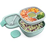 Bentgo Salad BPA-Free Lunch Container with Large 54-oz Bowl, 3-Compartment Bento-Style Tray for Salad Toppings and…