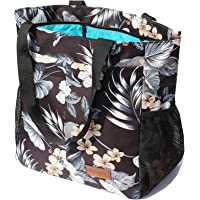 Original Floral Water Resistant Tote Bag Large Shoulder Bag with Multi Pockets for Gym Hiking Picnic Travel Beach Daily…