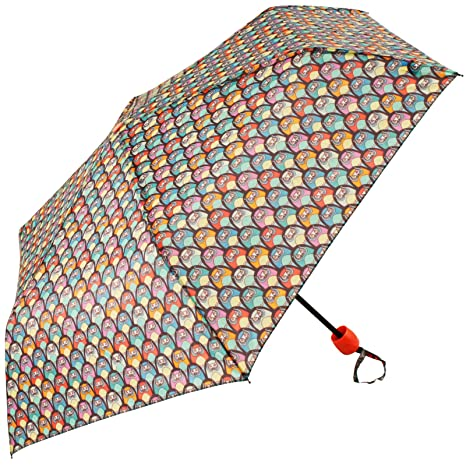 susino x-brella – Paraguas Plegable Woodland Criaturas, diseño de búhos