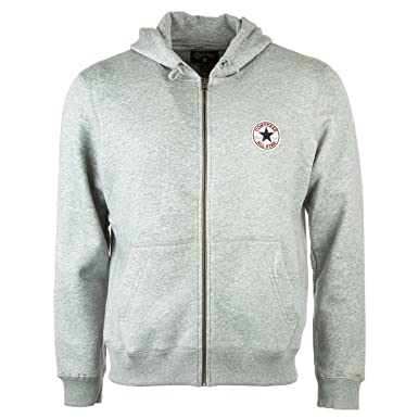 Converse hooded sweat jacket AMK Chuck Patch Vintage Grey Heather Grey 0311M250