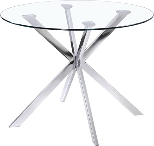 Uptown Club Franz Collection State-of-the-art Designed Round Glass Top Dining Table