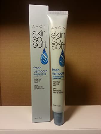 Avon SKin So Soft Fresh & Smooth Moisturizing Facial Hair Removal Cream - 1 ...