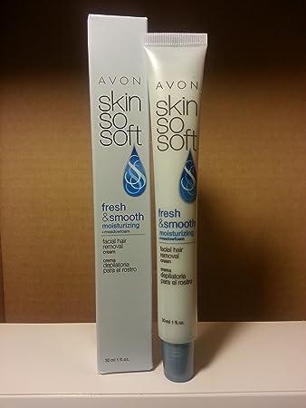 Avon SKin So Soft Fresh & Smooth Moisturizing Facial Hair Removal Cream - 1 ...