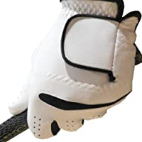 """All Weather"" Men's and Ladies' Golf Glove - White (Black Trim)"