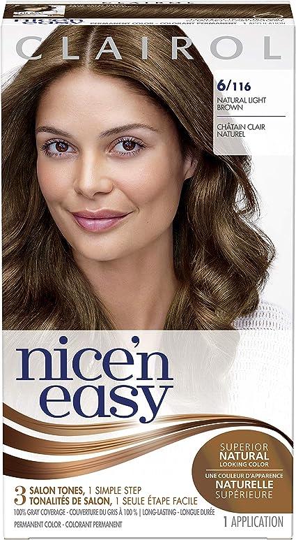 Clairol Nicen - Tinte permanente para el cabello (6 unidades), color marrón claro