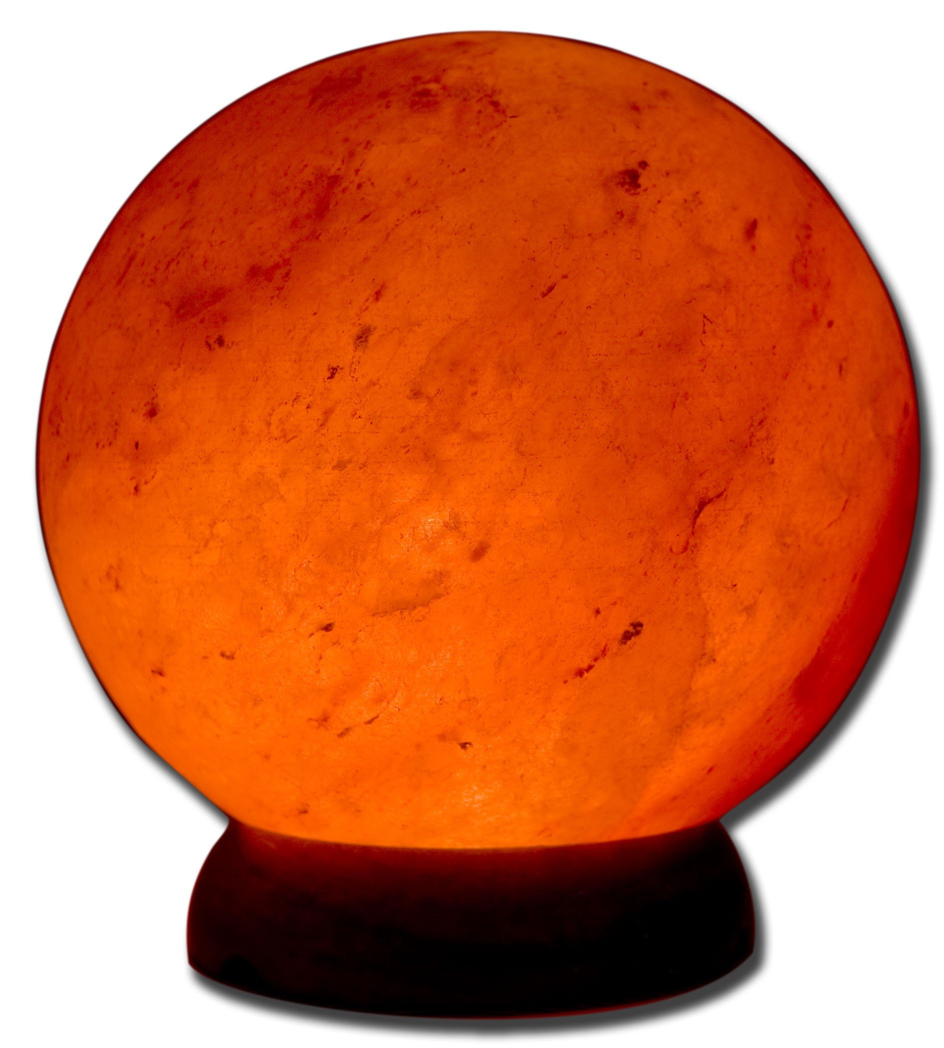 Accentuations by Manhattan Comfort Therapeutic Sphere Shaped Himalayan Salt Lamp, 1.7'', Natural/Brown Base