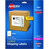 "Avery Shipping Labels with TrueBlock Technology for Laser Printers 8-1/2"" x 11"", Pack of 25 (5265)"
