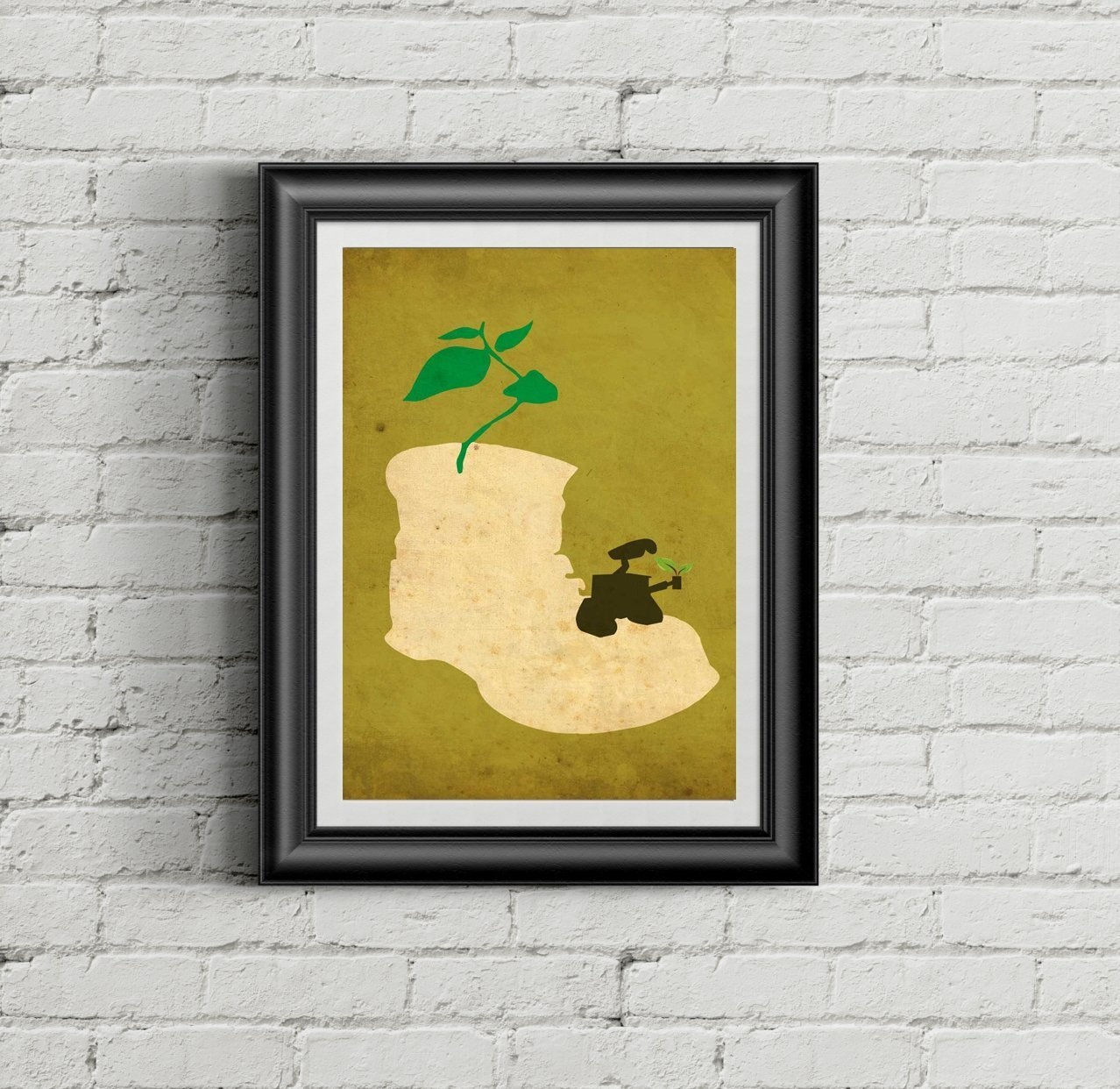 Wall E Minimalist Poster // Disney Pixar Movie Poster // Vintage ...