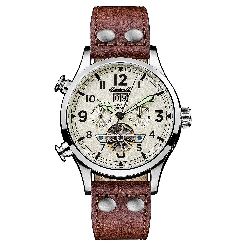 [インガソール]Ingersoll 腕時計 Automatic Stainless Steel and Leather Casual Watch, Color:Brown I02101 メンズ [並行輸入品] B077CPLMN8