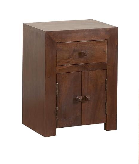 Beautiful Homescapes Dakota   Bed Side Cabinet   Dark   100% Solid Mango Hard Wood