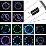 DAWAY LED Bike Spoke Lights - A12 Waterproof Cool Bicycle Wheel Light, Safety Tire Lights for Kids Adults, Very Bright…