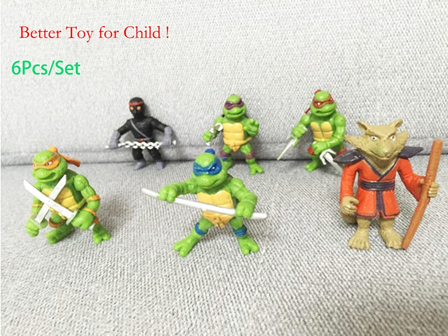 Amazon.com: 6 Pcs/Set Teenage Mutant Ninja Turtles Child Boy Toy ...