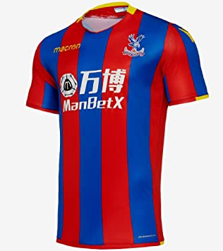 a4118b4e2f46 Crystal Palace FC Official Men s Home Player Issue Body Fit Shirt 2017-2018  (EU