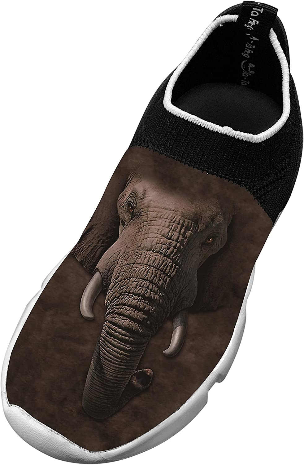 New Slim fit Flywire Weaving Jogging Shoes 3D Custome With Elephant For Unisex Kids