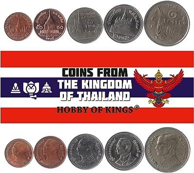 5 Monedas Diferentes - Moneda extranjera de Tailandia Antigua y Coleccionable para coleccionar Libros - Conjuntos únicos de Dinero Mundial - Regalos para coleccionistas: Amazon.es: Juguetes y juegos