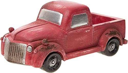 Darice Mini Accessory Old-Fashioned Red Pickup Truck Fairy Garden