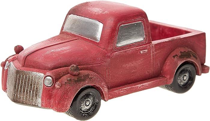 Darice Mini Accessory: Old-Fashioned Red Pickup Truck Fairy Garden