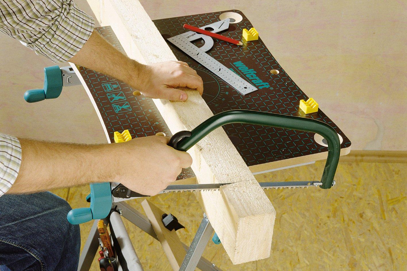 81AwzcjweIL. SL1417  Wolfcraft 6182 Master 600, tavolo da lavoro regolabile in altezza da 78 a 95 cm