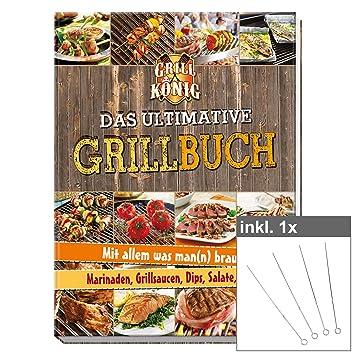 Lo último Barbacoa libro Incluye 4 Brochetas (, más de 110 deliciosas Recetas parrilla y
