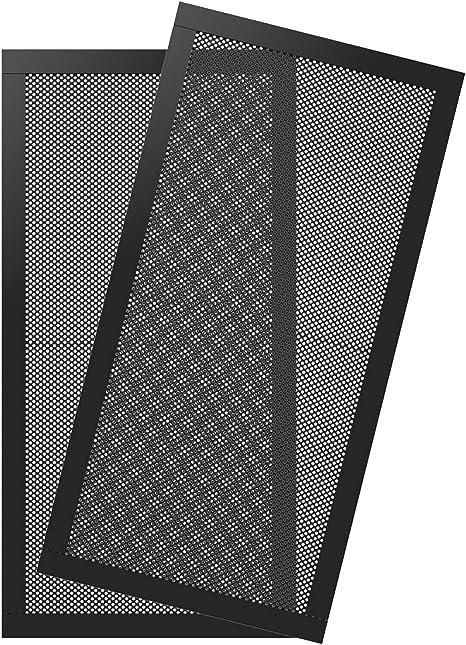 Homswitch Black 122x122mm Fan Filter Blower Guard Computer Fan Mesh Cover Pack of 5