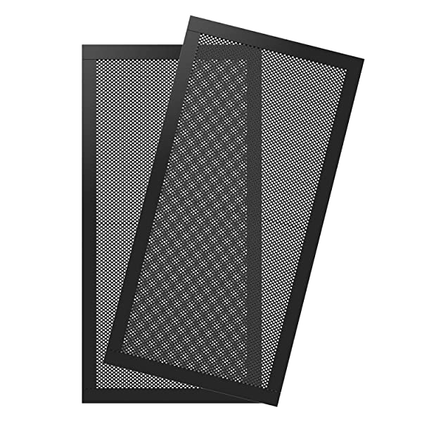 MoKo 120240mm Dust Filter for Computer Cooler Fan, [2 Pack] Magnetic Frame PC Fan Dust Mesh PC Cooler Filter Dustproof PVC Cover Computer Fan Grills - Black