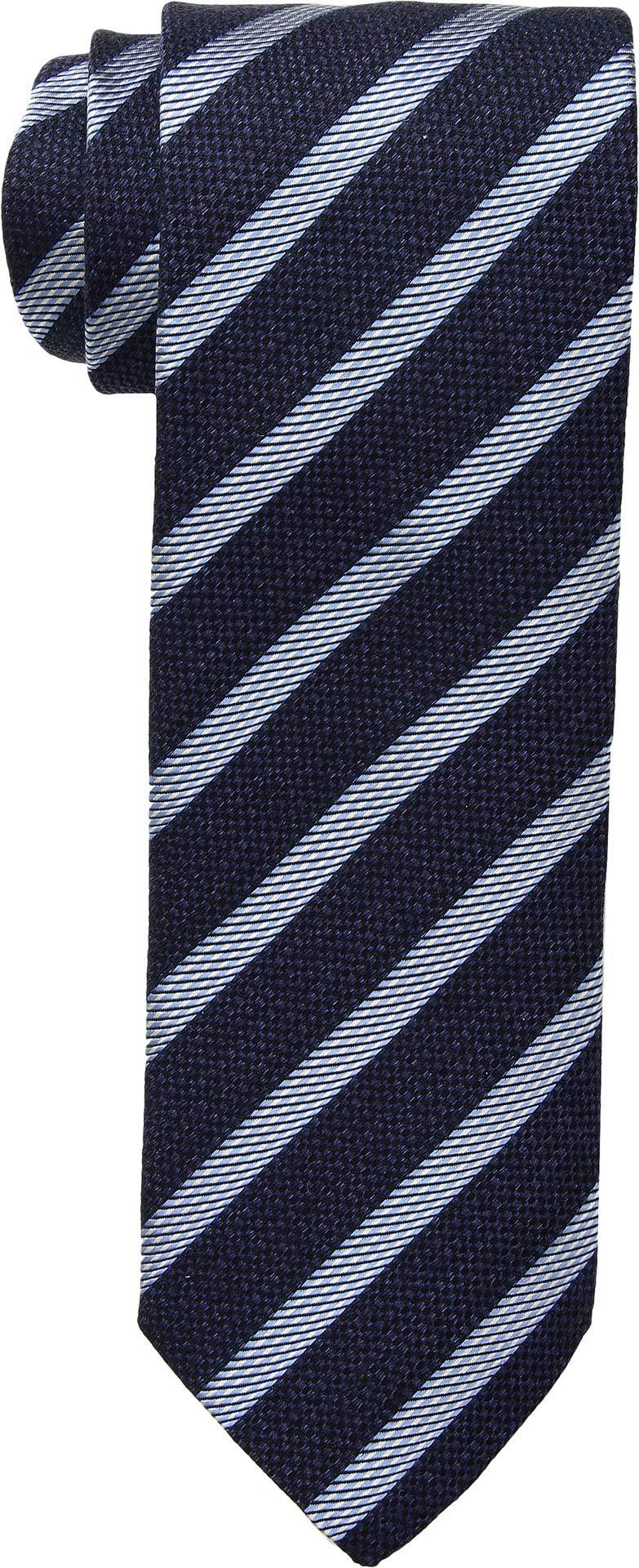 Eton Mens Stripe Tie Navy One Size
