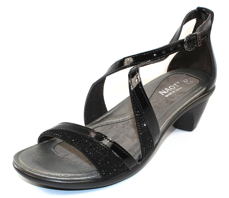 NAOT Women's Onward Sandals B0742N18BT 37 M EU|Black Luster, Black W, Crystal