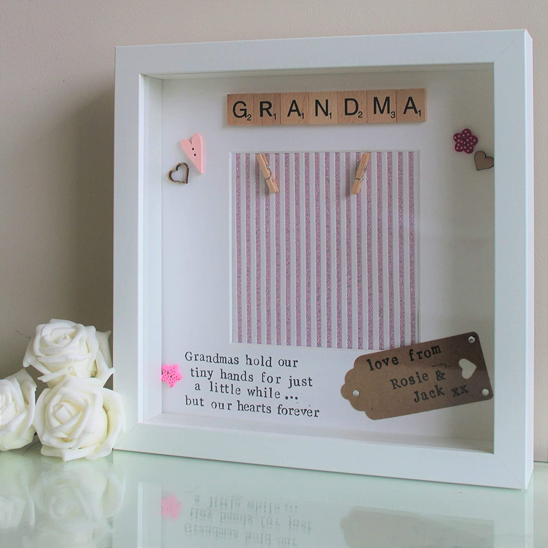 Personalised Christmas gifts for Nanny Grandma handmade heart gifts Nanna