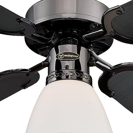 Westinghouse Lighting Capitol Ventilador De Techo Acabado En Gun Metal Con Aspas Reversibles En Grafito Negro Amazon Es Iluminacion