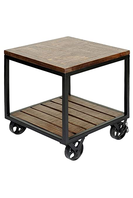 Trolley Coffee Table.Amazon Com Collective Design 720354119219 Two Tier Industrial