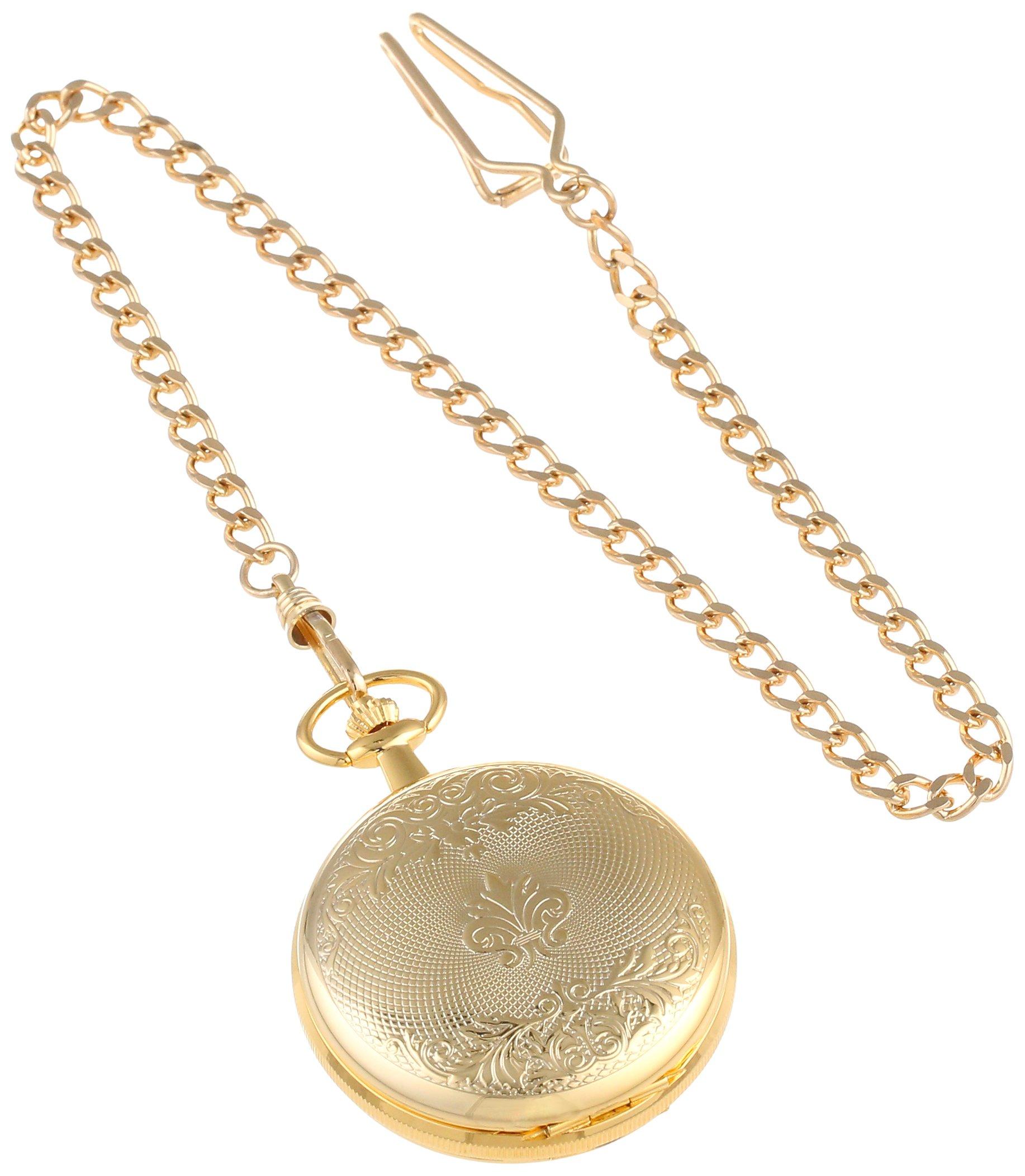 Charles-Hubert, Paris 3556 Gold-Plated Mechanical Pocket Watch by CHARLES-HUBERT PARIS (Image #3)