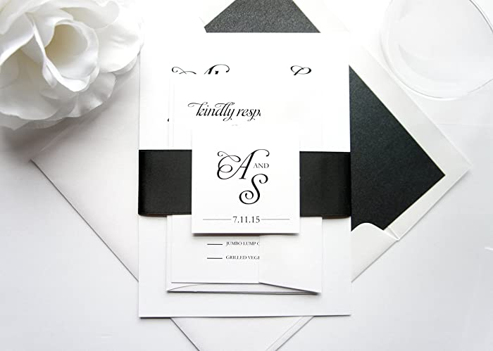 amazing black wedding invitation for 54 black and white wedding invitations cheap