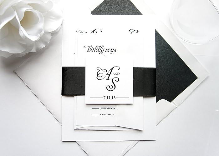 Amazoncom Wedding Invitations Modern Wedding Invitation