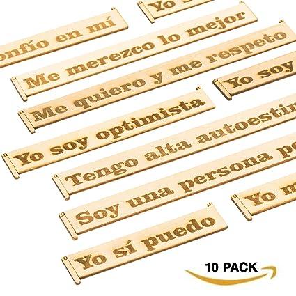 Sticky Reminders Pegatinas Decorativas Reutilizables Frases Motivadoras en Madera Set de Adhesivos Vintage Frases Positivas e Inspiradoras en Español ...