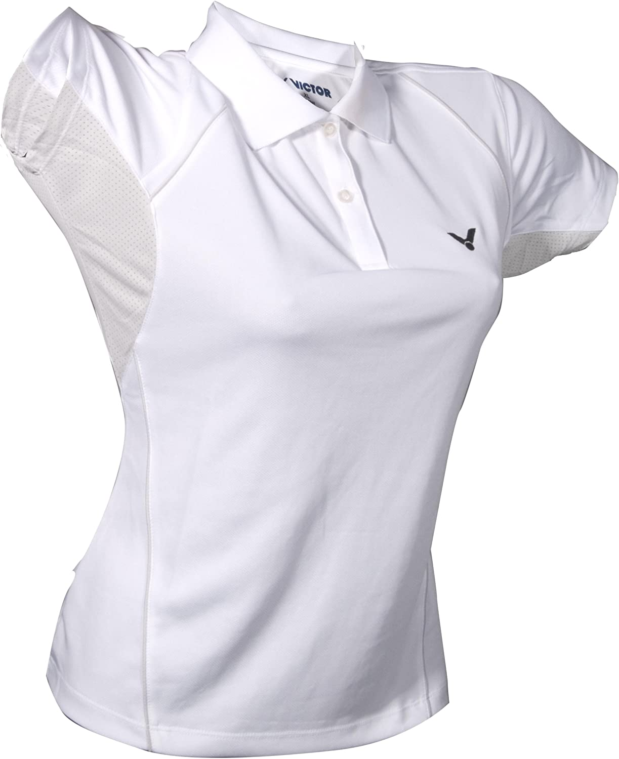 Victor Mujer Polo Camisa White 6030, Color Blanco/Gris: Amazon.es ...