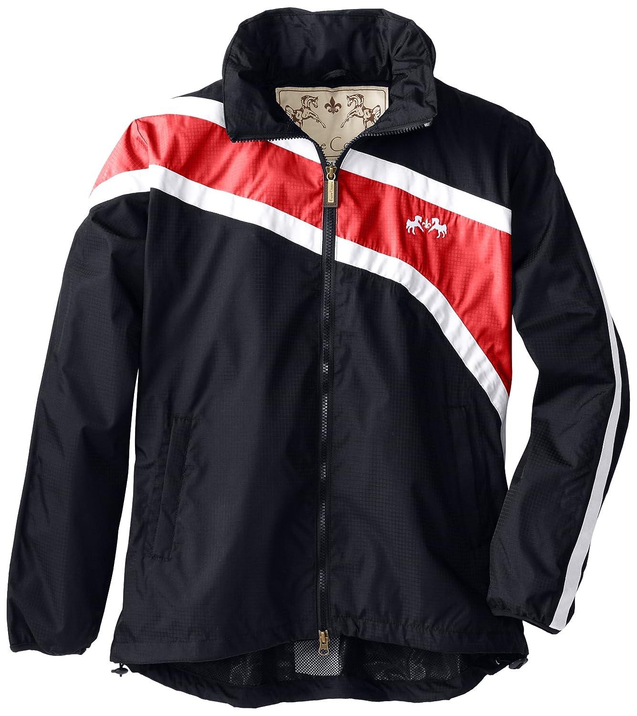 Navy Red White X-Small Navy Red White X-Small Equine Couture Women's Southfields Rain Shell Jacket