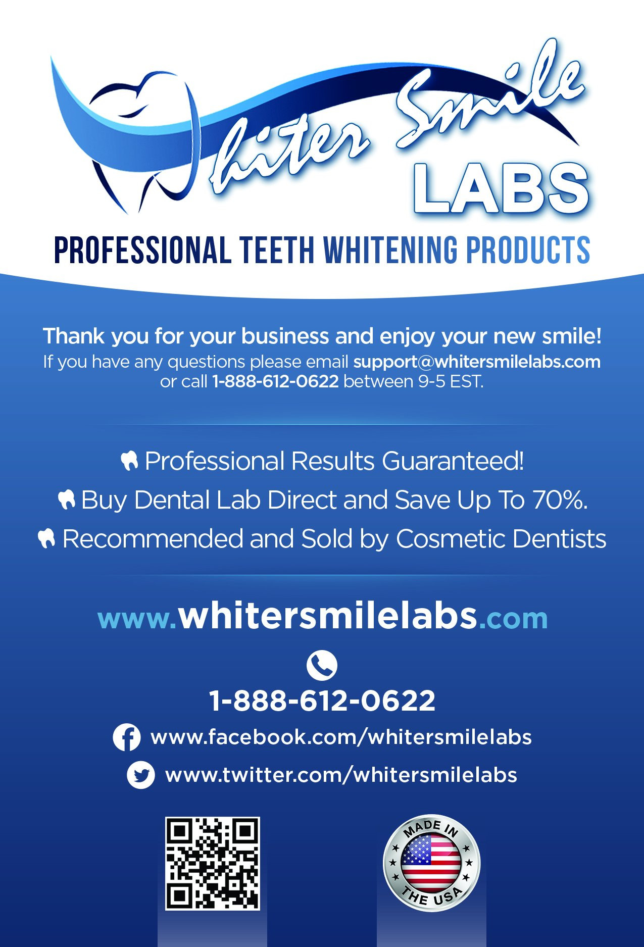 5 XL 38% Dentist Recommended High Intensity Teeth Whitening Gel Pro Dental Lab Direct! Highest Quality Carbamide Peroxide, Sensitivity Free. Sold by Dentists! Whiter Smile Labs FASTEST WHITENING RESULTS, 2-3 Full, 7 Day Treatment Cycles. FRESHLY MADE IN A by Whiter Smile Labs (Image #1)