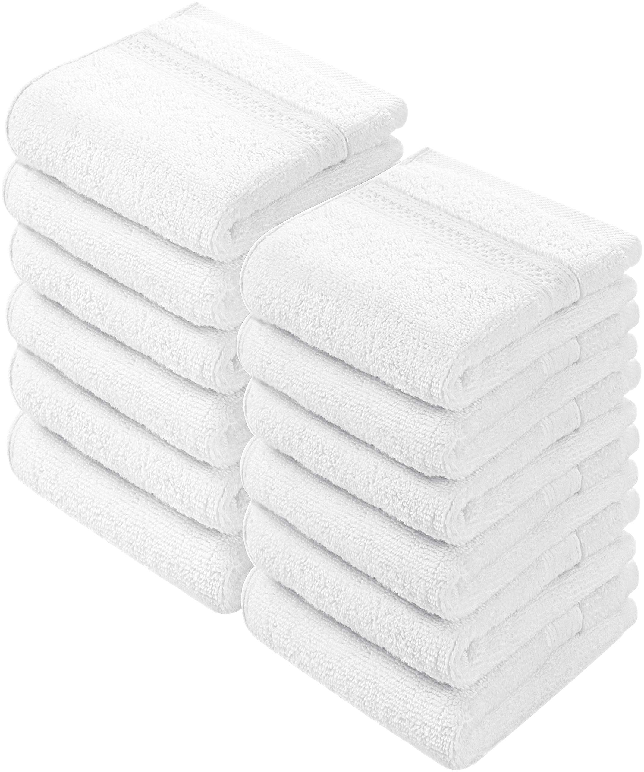 Utopia Towels Premium 252 Pack 700 GSM Cotton Washcloths Bulk– (12 x 12 Inches Face Towels Bulk) Extra Soft Wash Cloths, White
