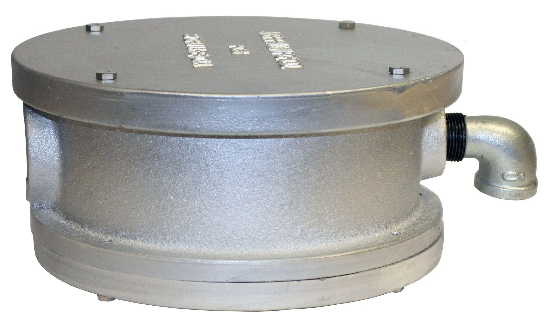 Merrill MFG WC600 Sanitary Watertight Cap, 6'' Well Pipe, 3/4'' Vent Size, Painted Cast Iron, 6''