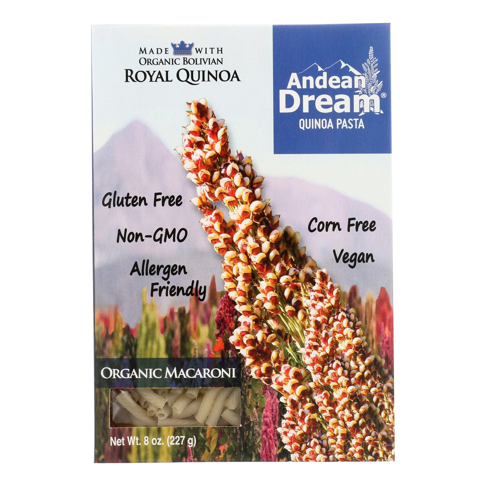Andean Dream Gluten Free Organic Macaroni Quinoa Pasta - Case of 12 - 8 oz. by Andean Dream