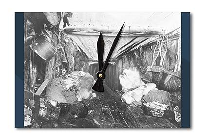 Reloj de pared interior de caseta de esquimal fotografía (acrílico)
