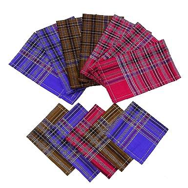 12 Lote Plaza de las PC del pañuelo de algodón pañuelo de bolsillo ...