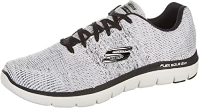 Mínimo pronunciación Contribuyente  Skechers Flex Advantage 2.0 Men US 8.5 White Running Shoe UK 7.5:  Amazon.ca: Shoes & Handbags