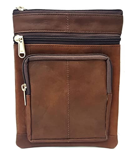 d8698d1b6ecd Image Unavailable. Image not available for. Colour  Real Leather Distressed  Brown Man Bag Mens Shoulder Bag Cross Body Messenger Bag Travel Holiday  Document