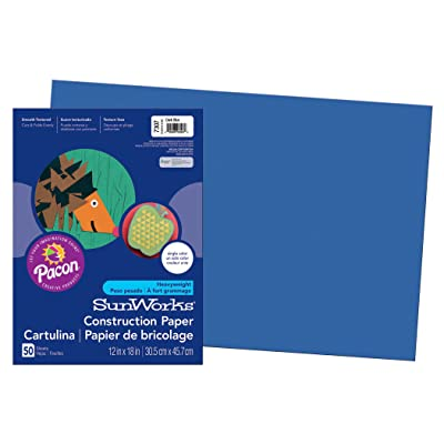 "PACON PAC7307 SunWorks Construction Paper, 12"" x 18"", Dark Blue, 50 Sheets: Industrial & Scientific"