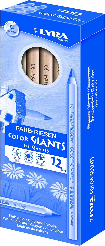 Lyra Farb-Riesen /Étui en carton avec 12/crayons de couleur en bois naturel Orange