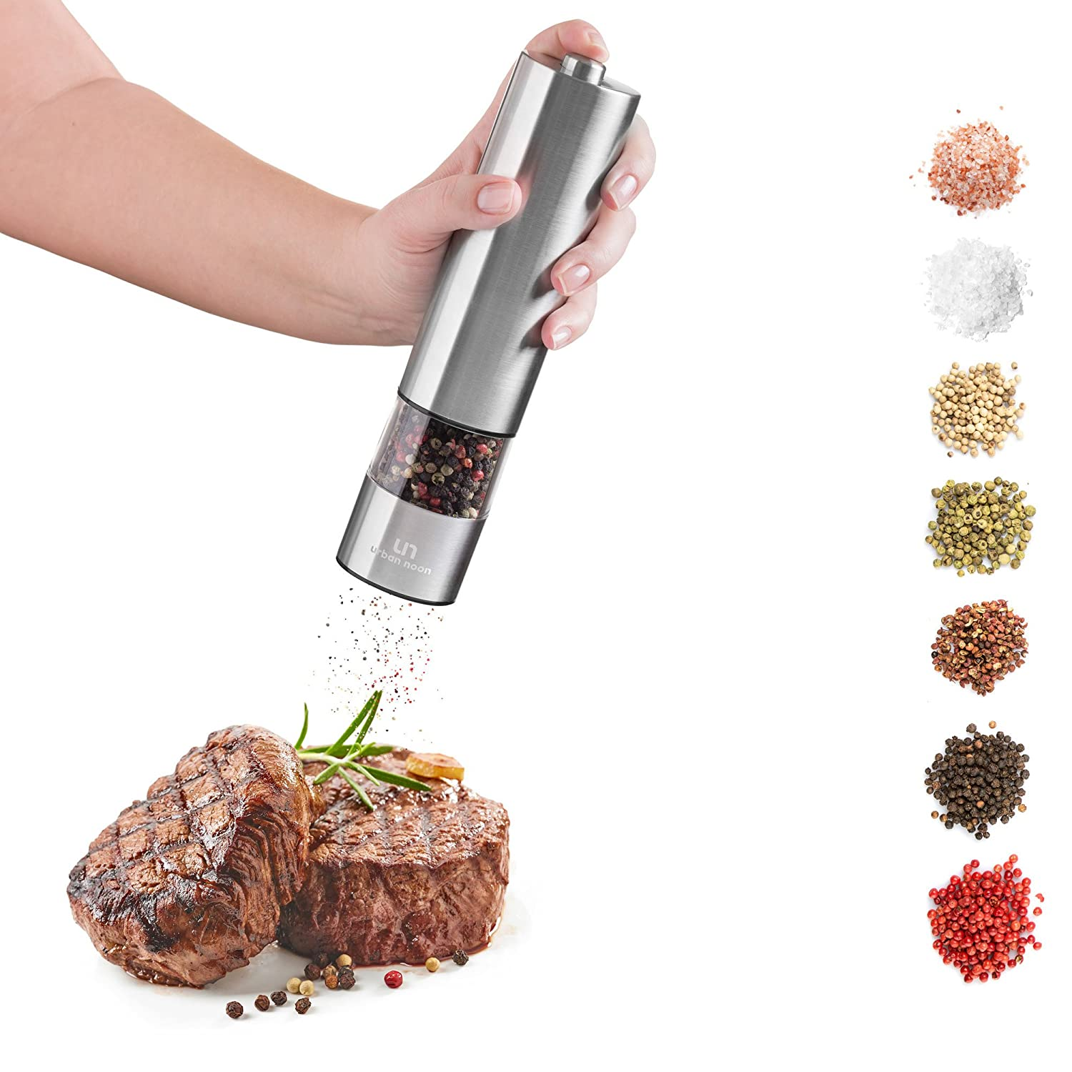 Electric Salt and Pepper Shakers Set