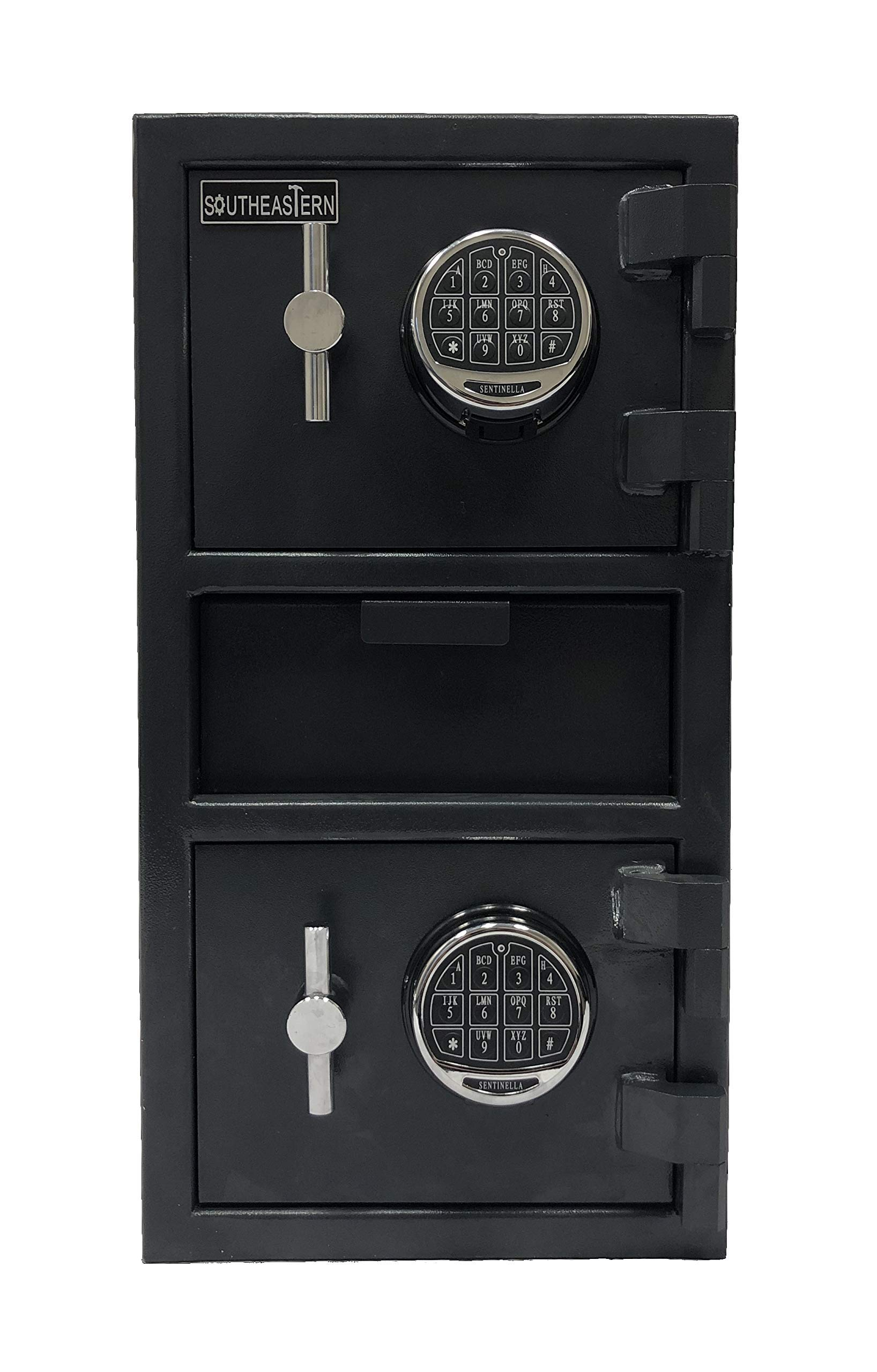 SOUTHEASTERN Double Door Money Depository Drop Safe with high Security Digital Lock by Southeastern