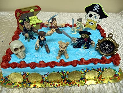 Magnificent Pirates Of The Caribbean 16 Piece Birthday Cake Topper Featuring Funny Birthday Cards Online Aeocydamsfinfo