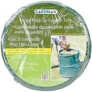 """Gardman R622 Pop-Up Garden Tidy Large, 18"""" Wide x 24"""" High"""